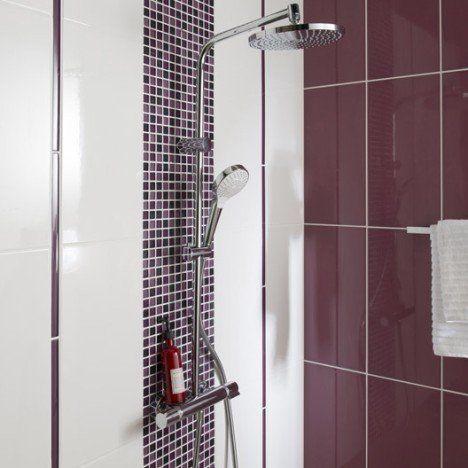 Faïence mur blanc, Tonic l25 x L50 cm Salle de bain Pinterest