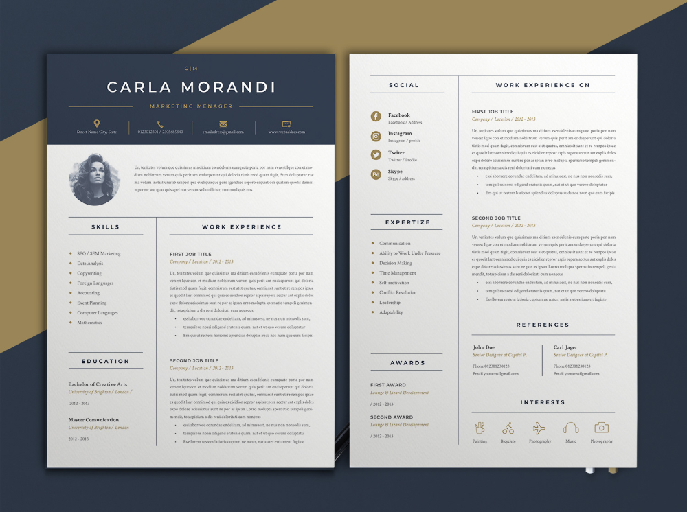 Cv Resume On Behance Cv Examples Cv Template Free Architecture Cv Free Cv Template Unique Res Resume Template Word Minimal Resume Template Minimal Resume
