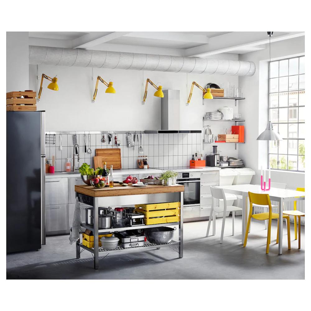 Rimforsa Werkbank Edelstahl Bambus Ikea Deutschland In 2020 Werkbank Kuche Freistehend Kuchendesign