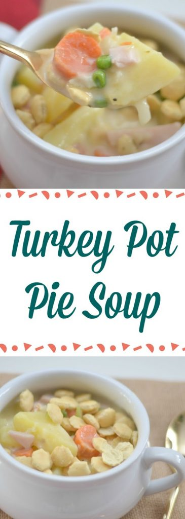 Leftover Turkey Pot Pie Soup #leftoverturkeyrecipeseasy