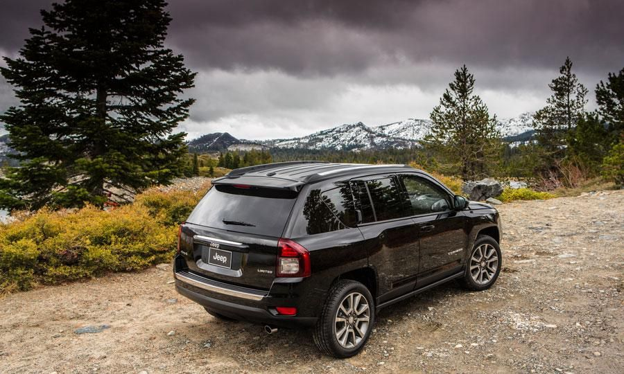 The 2014 Jeep Compass features a plated chrome insert on
