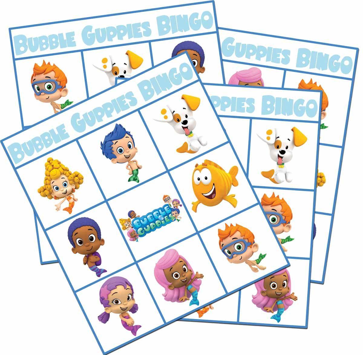Printable Bubble Guppy Bingo Game Boy Girl By