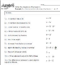 Algebraic Expressions 1 | math | Pinterest | Algebraic expressions ...