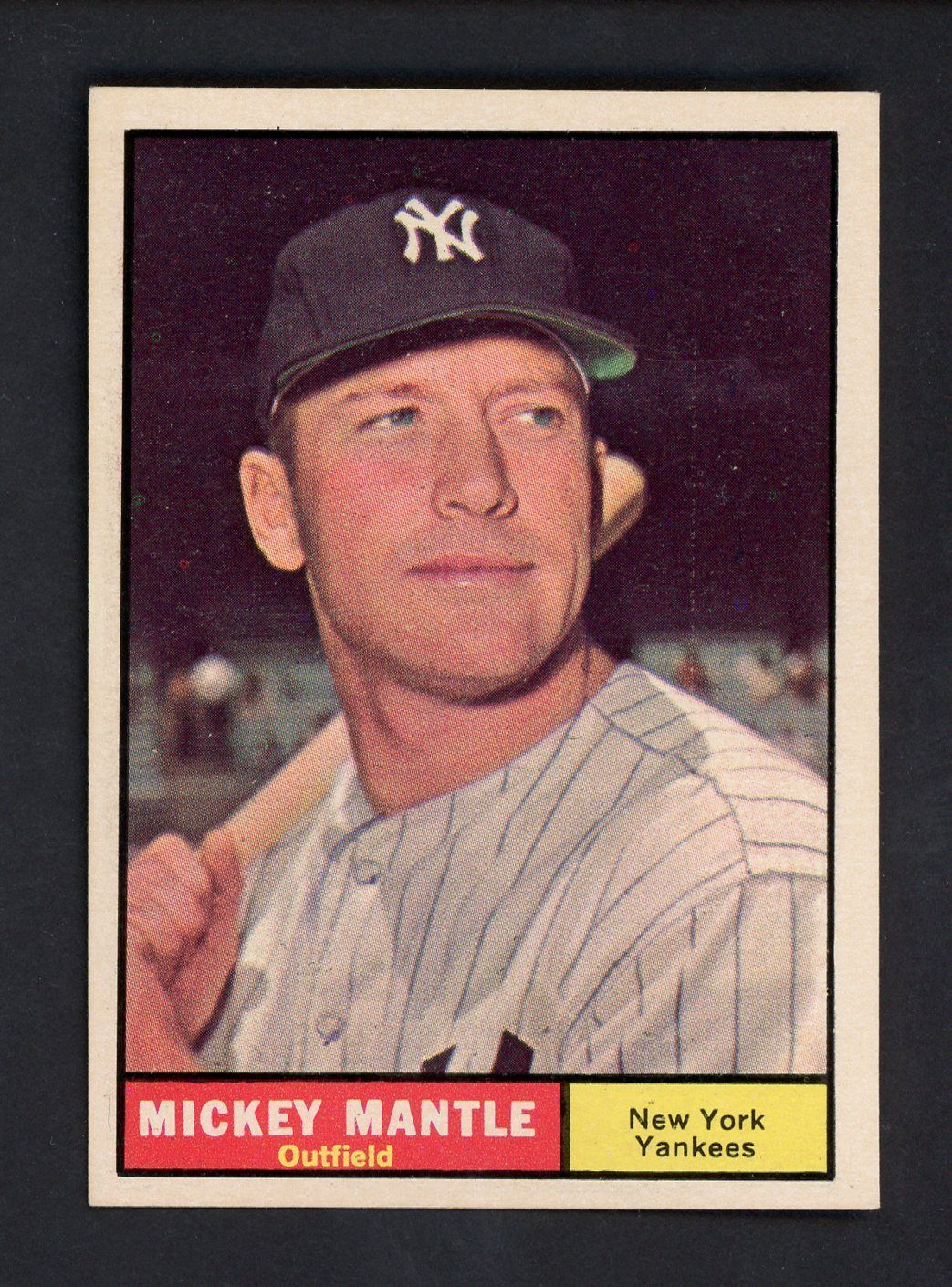 Sportsmemorbilia 1961 Topps 300 Mickey Mantle New York Yankees Hof