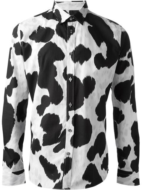 Shop Moschino cow hide print shirt in Loschi from the world s best  independent boutiques at farfetch.com. Over 1000 designers from 60  boutiques in one ... a5440ae6c