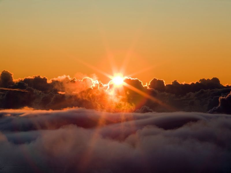 the most beautiful sunrises live here.. at the summit of Haleakala