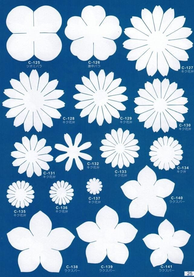 Templates For Flowers From Foamiran Christmas Crafts Pinterest