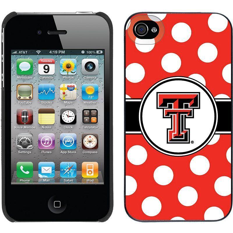 Coveroo, Inc. Texas Tech Red Raiders Polka Dot iPhone 4 / 4S Thinshield Snap-On Case, Black