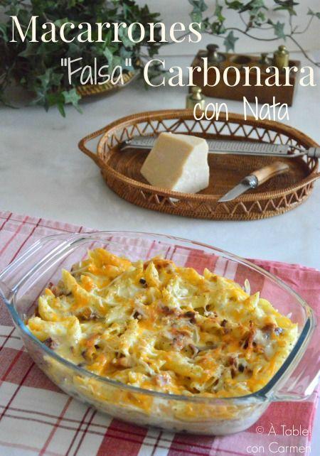 Table con carmen macarrones falsa carbonara con - Cocina con carmen ...