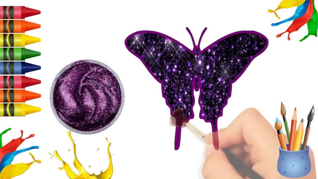 7Creations Drawing For Kids: Butterfly Drawing and C