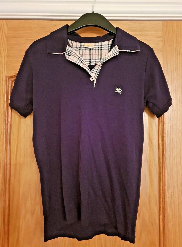 Xl Youth Ladies Navy Polo Blue Or Burberry Size In Shirt 10 qFwAX0S