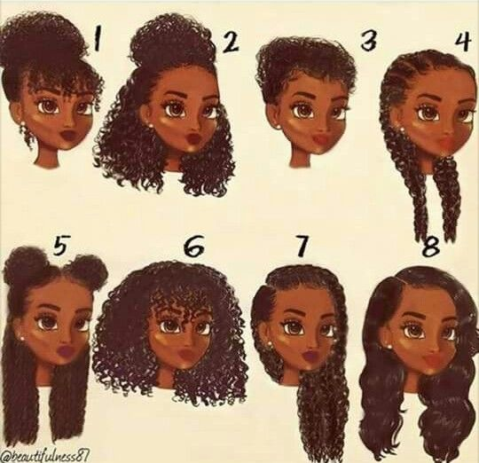 Cartoon Animated Drawing Style In 2019 Natural Hair Styles