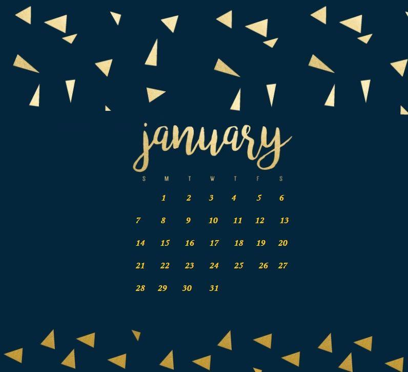 January 2018 Calendar iPhone Wallpaper  MaxCalendars  Pinterest  Wallpaper, Iphone wallpaper