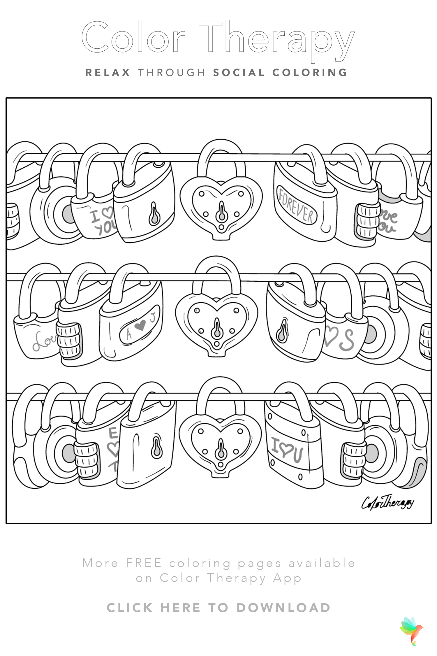 Color Therapy Gift Of The Day Free Coloring Template Free Coloring Pages Coloring Pages Printable Coloring Pages