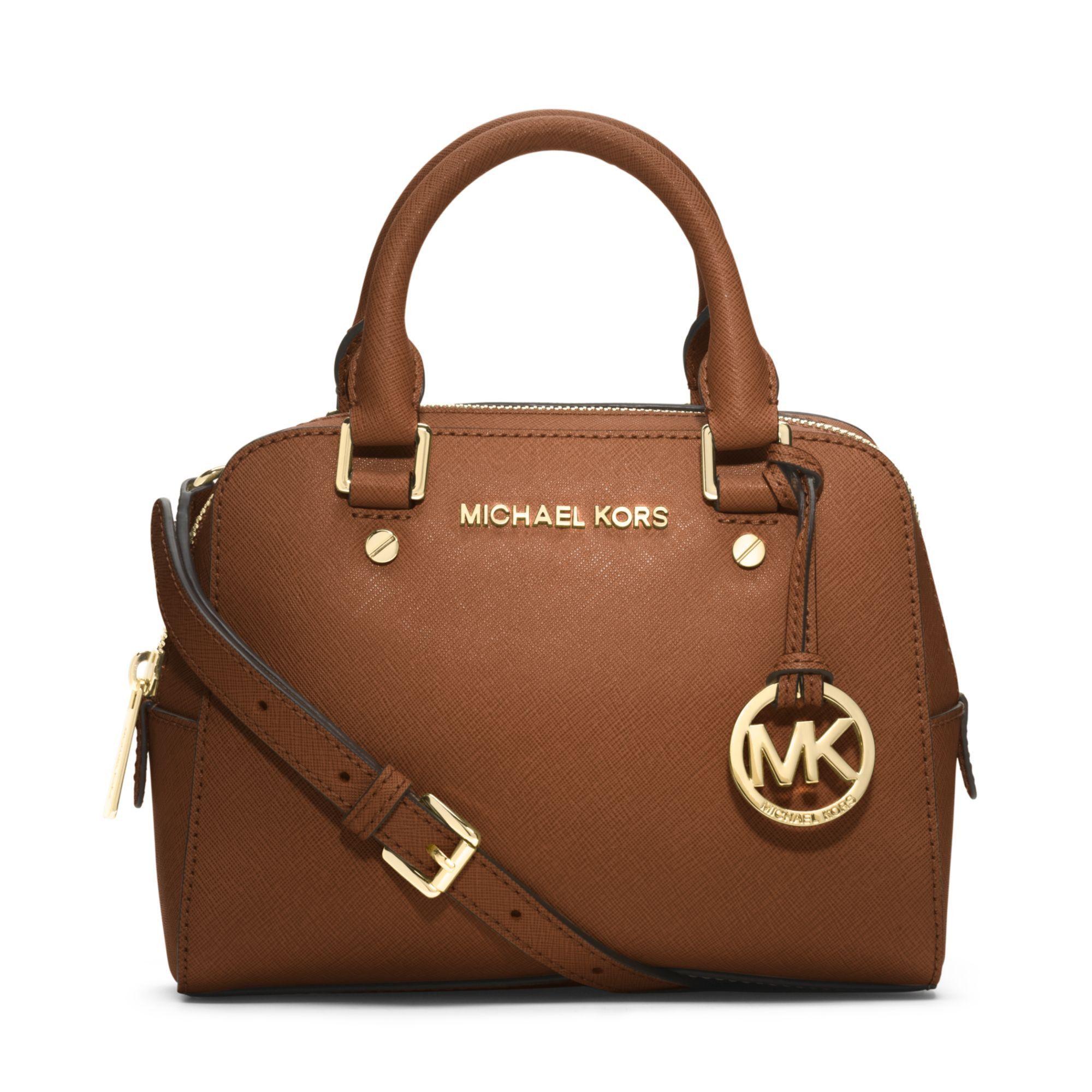 michael michael kors small jet set travel satchel in luggage brown rh pinterest com