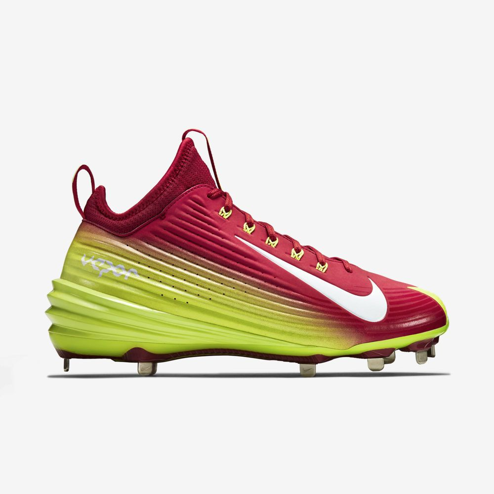 New Nike Lunar Vapor Mike Trout Metal Baseball Cleats Red Volt Size 9