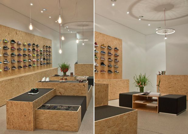 Chipboard Interiors Suppa Sneaker Boutique Basement
