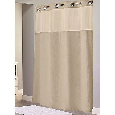 Hookless Waffle 54 Inch X 80 Inch Stall Fabric Shower Curtain And