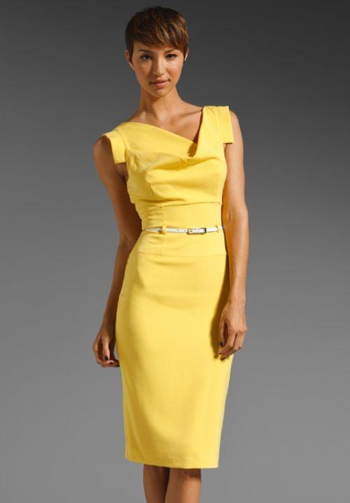 Yellow and black dress cheap