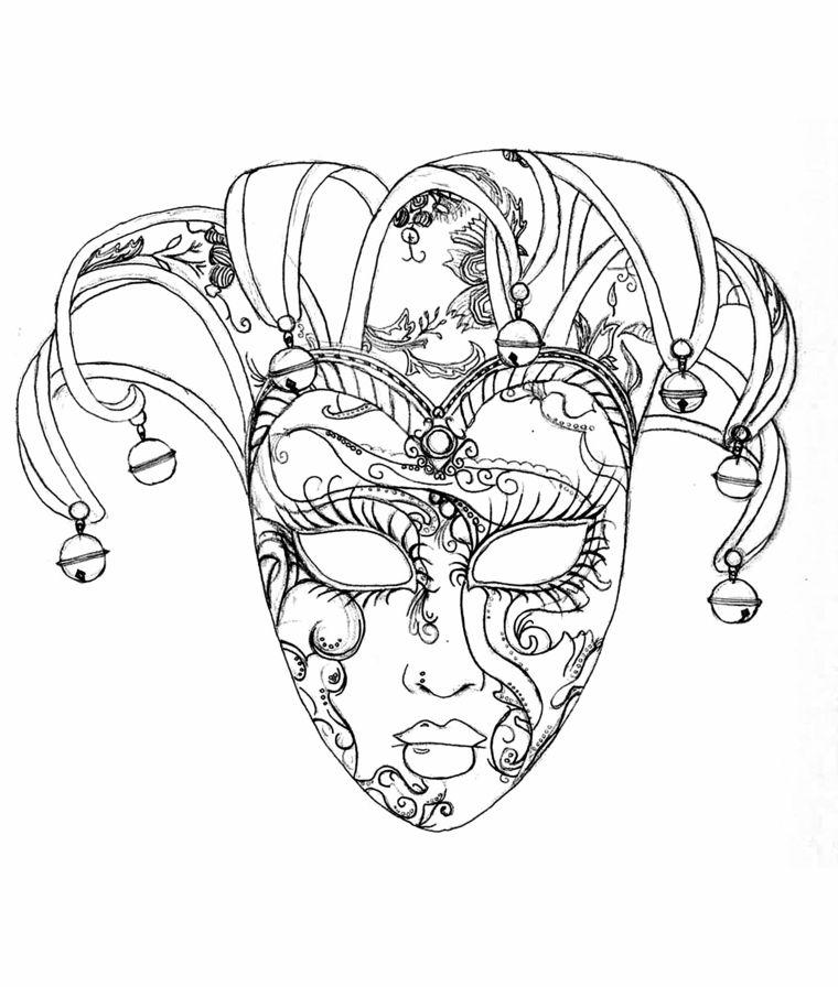 Disegni Di Carnevale Mascherina Di Venezia Con Ornamenti Pagine