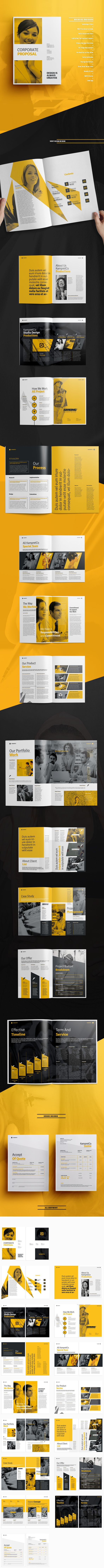 a4, agency proposal, brand, brief, brochure design, business ...