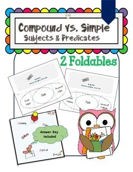 Pdf grammar simple vs compound subjects and predicates venn diagram this file with a foldable is perfect for your students interactive grammar notebooks making foldables is a great way to review the following concepts ccuart Image collections