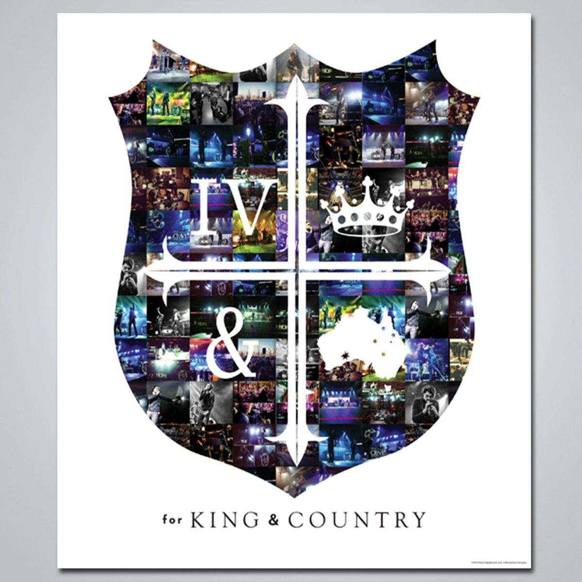 Crest Logo Poster King and country, Country lyrics, Country