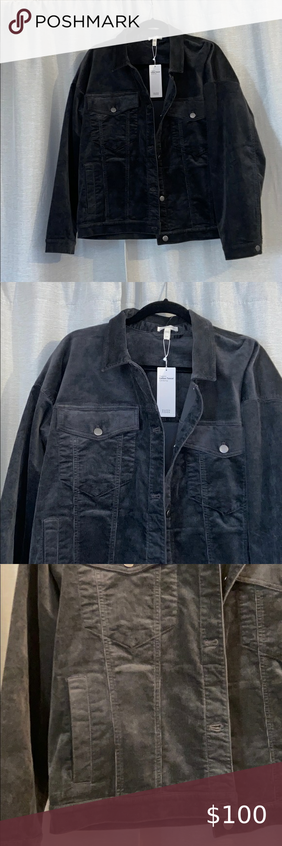 Eileen Fisher Corduroy Jacket Dark Wash Denim Jacket Chambray Jacket Corduroy Jacket [ 1740 x 580 Pixel ]