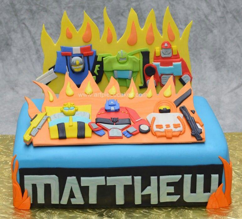 Incredible Rescue Bots Cake Rescue Bots Pinterest Rescue Bots Cake Funny Birthday Cards Online Alyptdamsfinfo