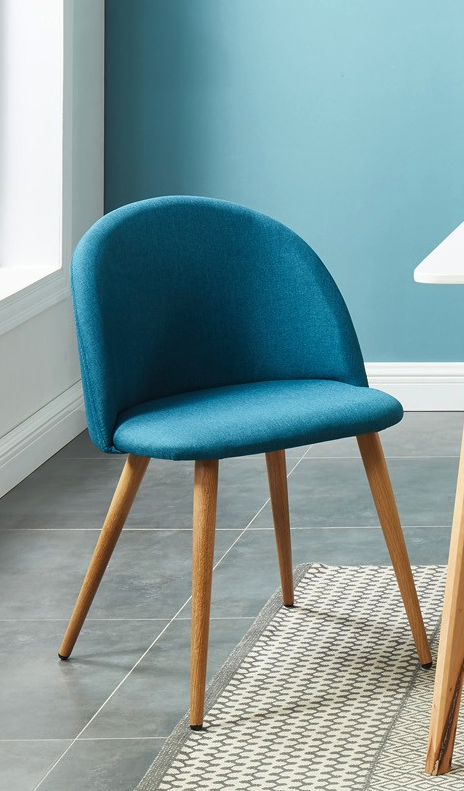 Lot De 2 Chaises Couleur Bleu Canard Collection Romy Homifab Deco Chaise Scandinave Salon Bleu Bleucanar Chaise Couleur Couleur Bleu Canard Bleu Canard