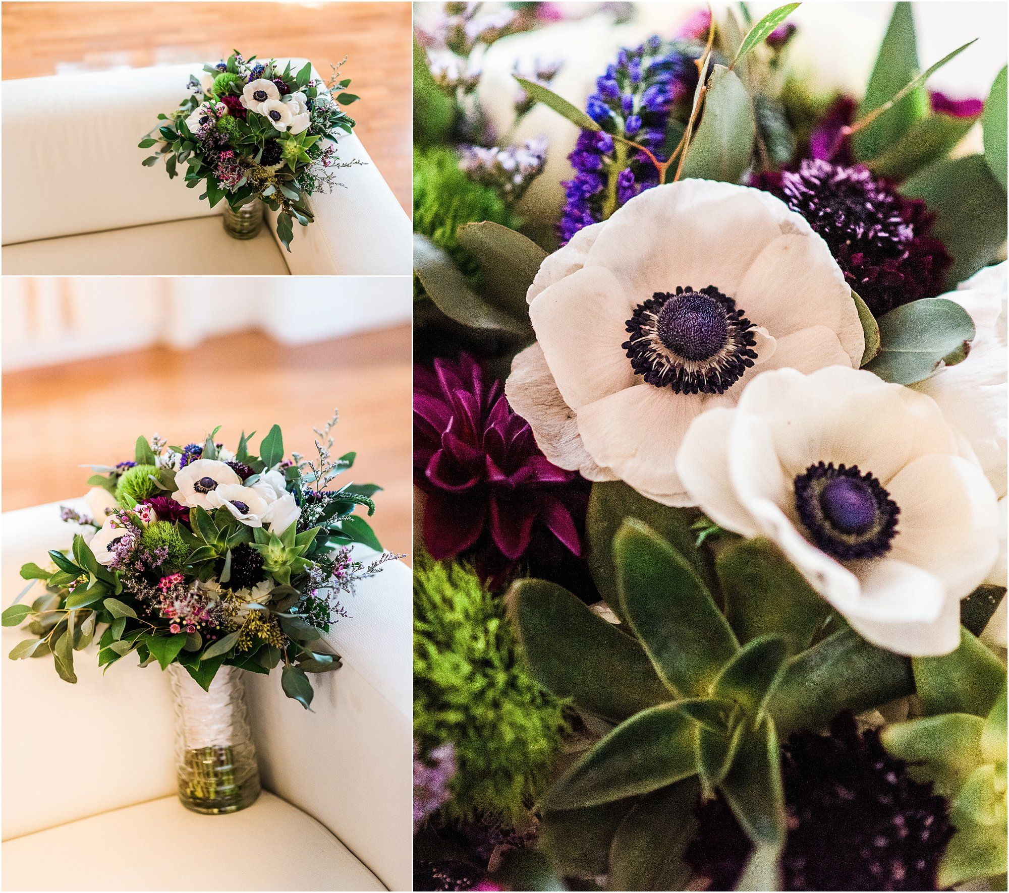 Bride's Bouquet With Purple Flowers By Buds Etc At Banyan