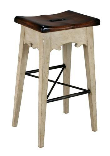 Lodge Bar Stool Antique White