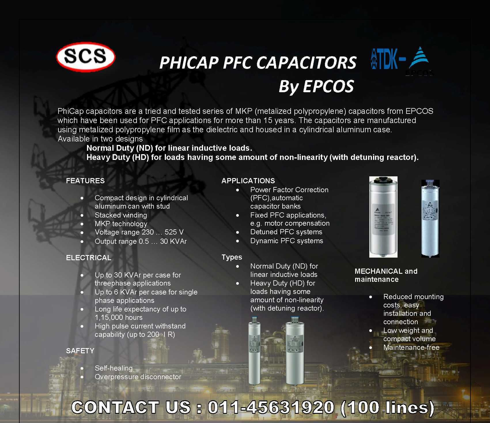 Phicap Capacitors Available Order At Sales Systemcontrols Co In Or Call Us On 011 45631920 100 Lines Capacitors Scs Consumer Electronics
