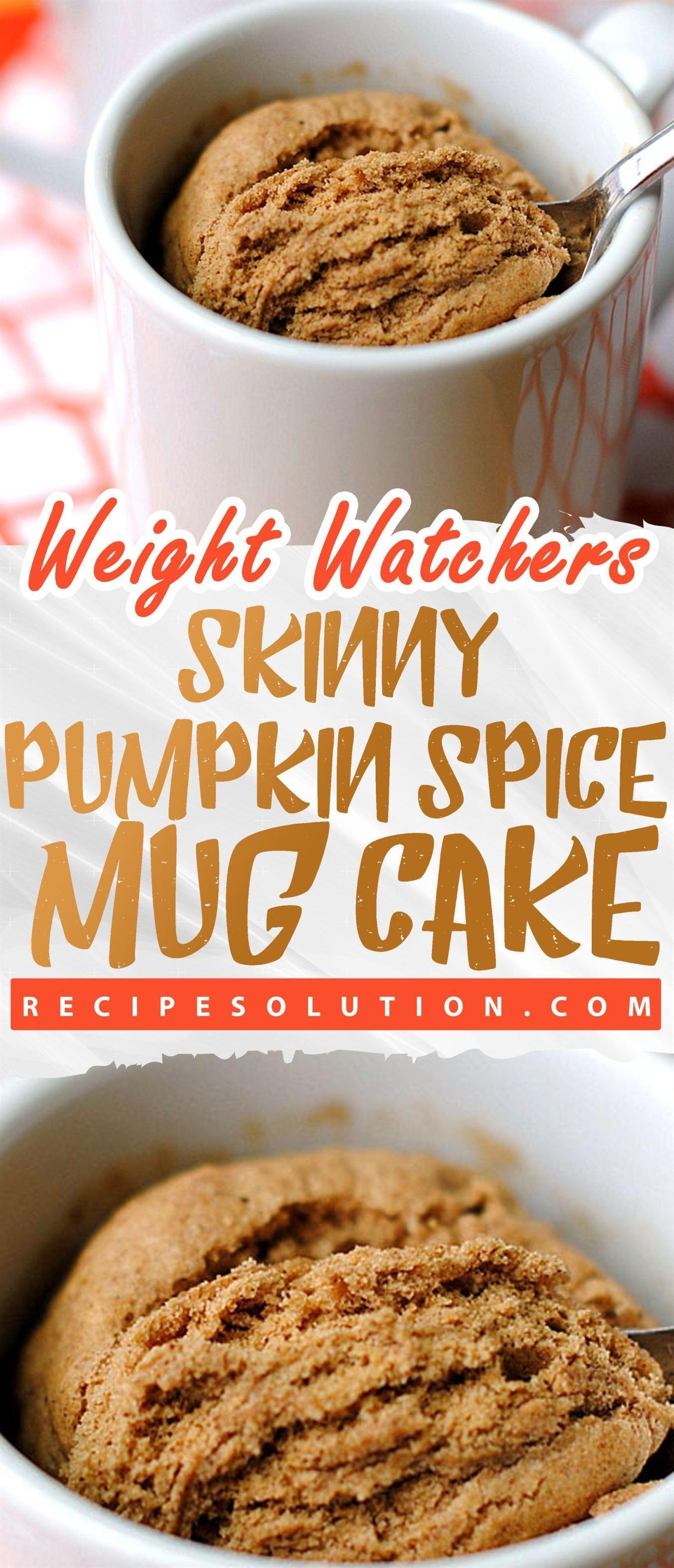 Skinny Pumpkin Spice Mug Cake | Skinny pumpkin, Weight ...