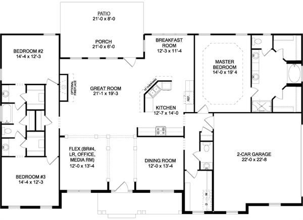 The Longview B Slab House Plan For Gainesville Ga Custom Home Plans House Plans How To Plan