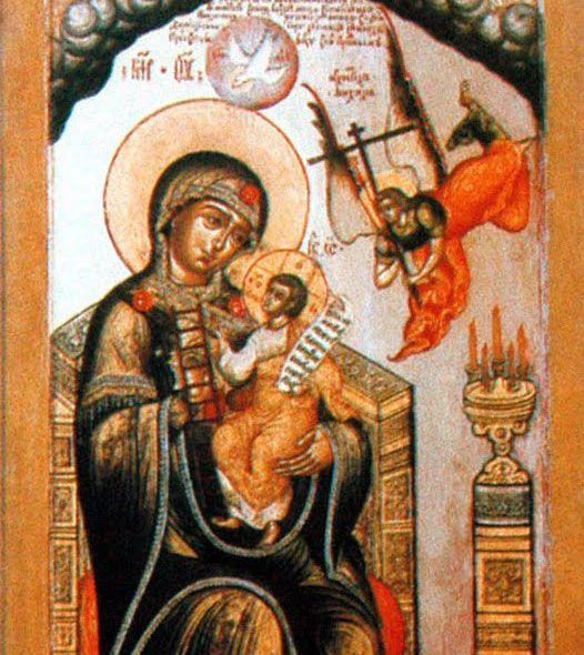 Icono de Nuestra Señora sin cortar el monte