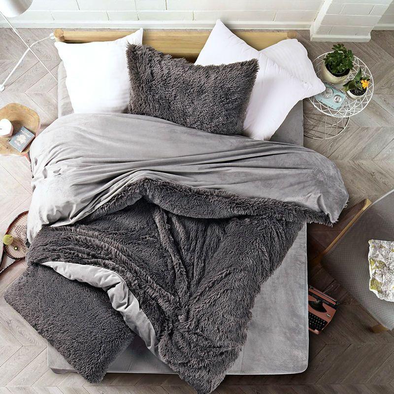 Best New Bedding Set Quilt Gray Velvet Velvet Mink Comfortable 400 x 300