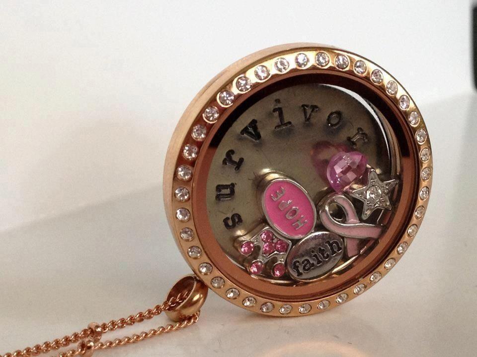 www.daniellebrown.origamiowl.com Locket, hope, breast cancer, gift, celebrate. Princess, tiara, pink, rose gold locket, star, faith
