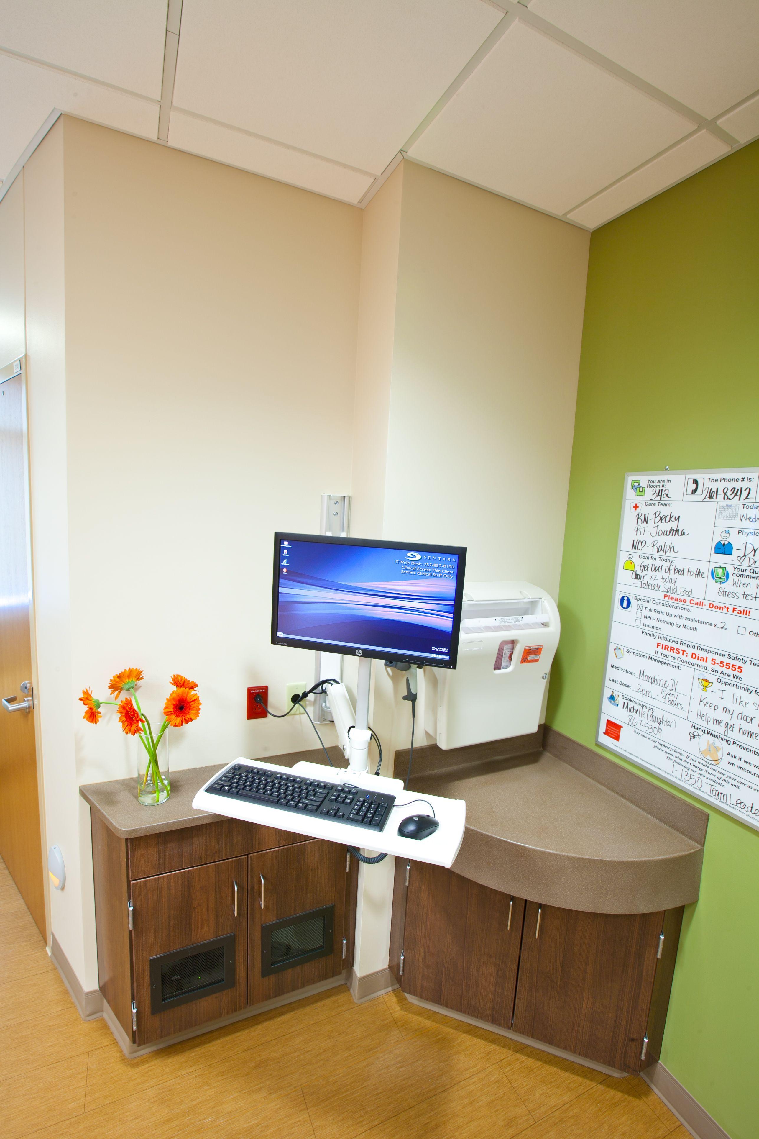 Patient Room Design: ICU Sentara Leigh, Norfolk, VA. Patient Room Features