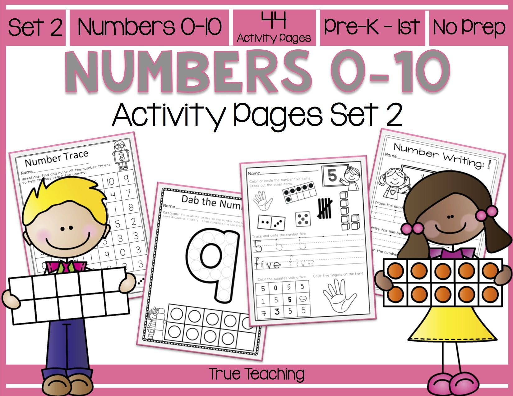 Numbers 0 10 Activity Pages Set 2