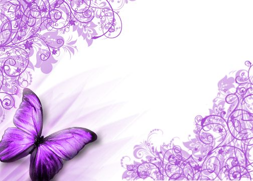 Butterfly border purple butterfly background by for Butterfly wallpaper border