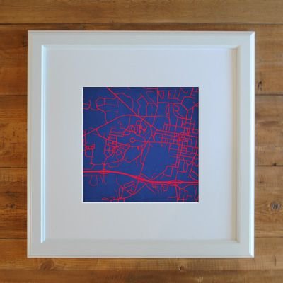 University Of Mississippi Campus Map Art Favorite Places Spaces