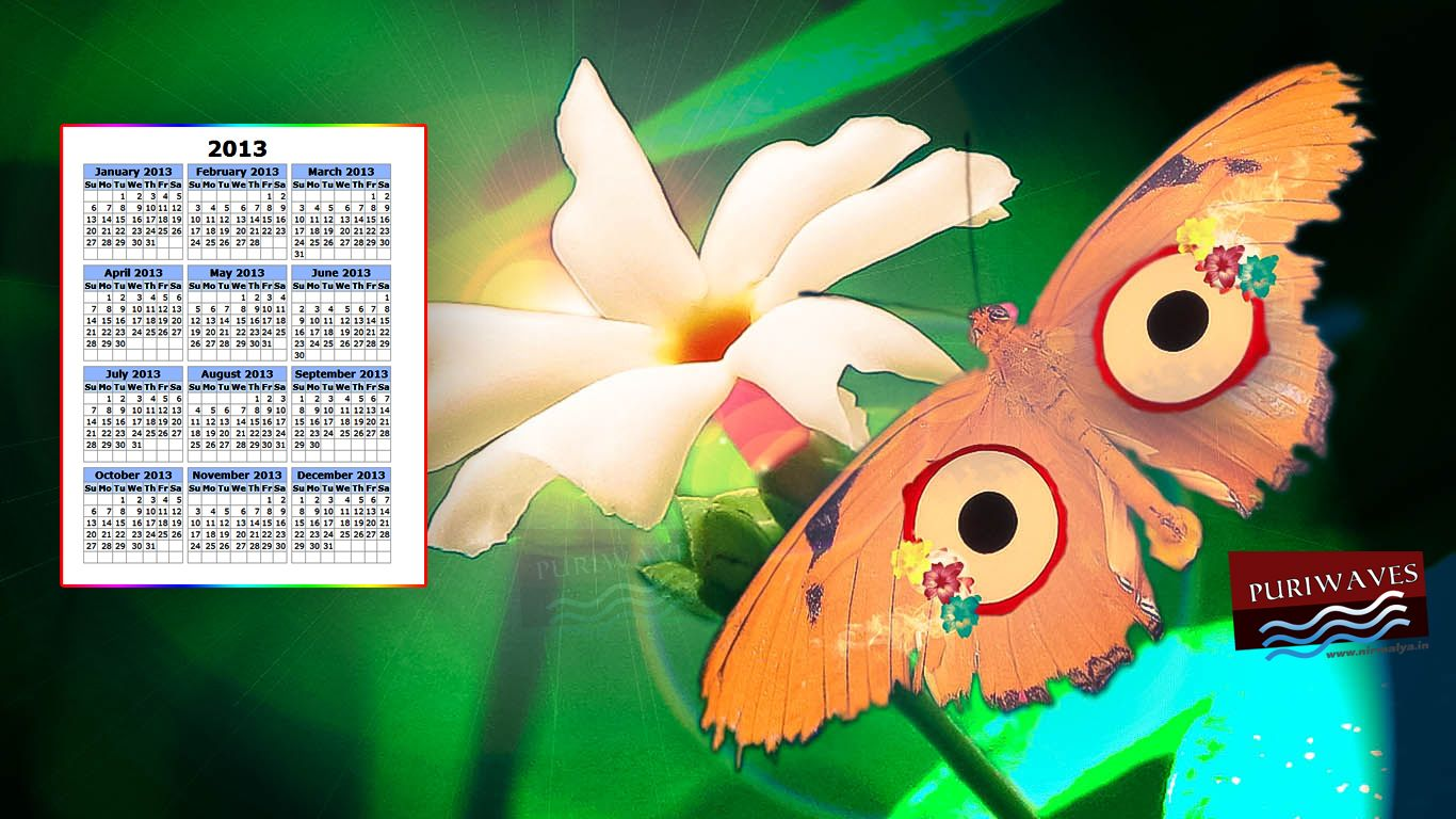 Jay Jay Shri Jagannath Wallpaper Calendar 2013 HD PURIWAVES