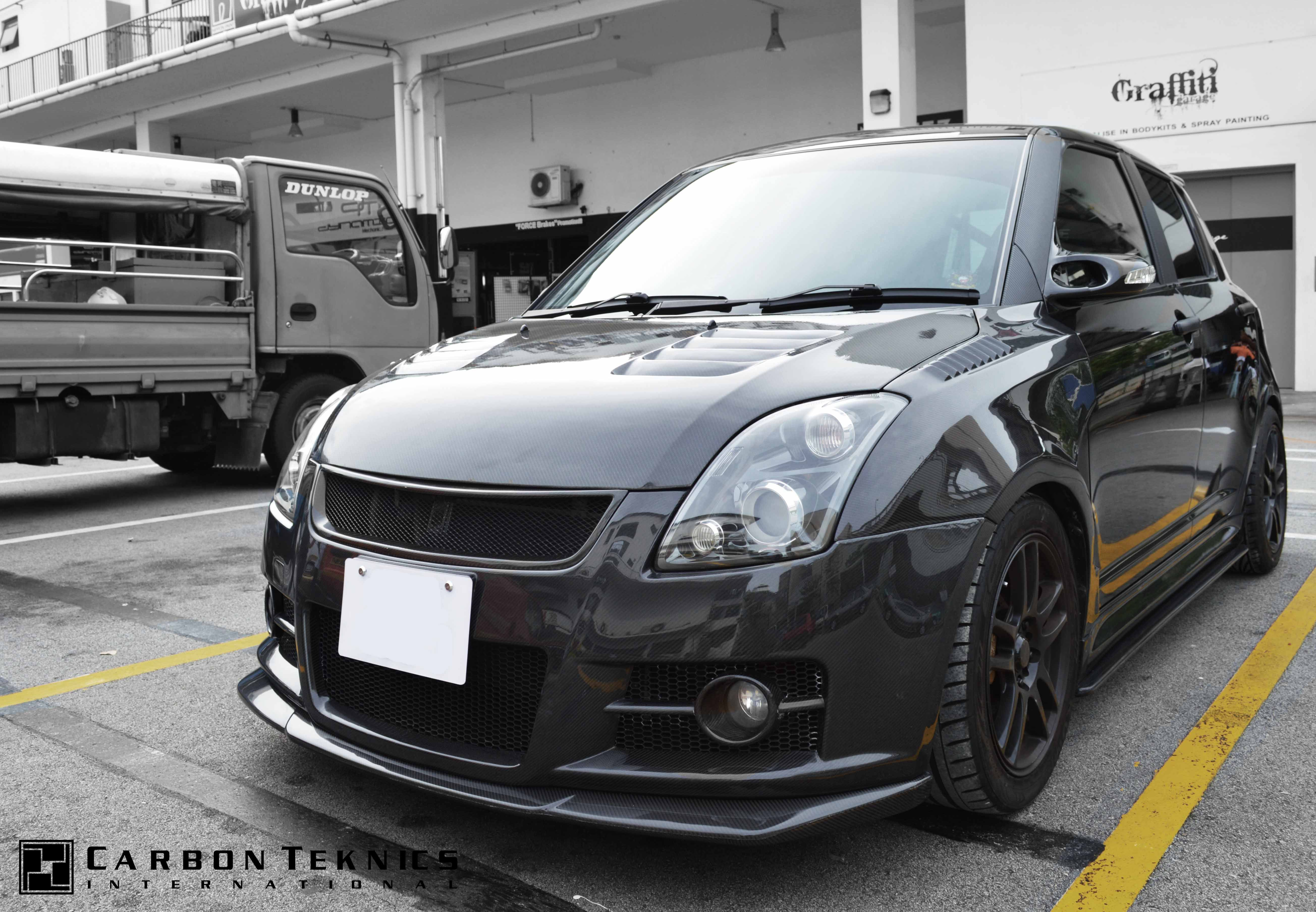July 2014 Full Carbon Swift Sports With Tm Style Carbon Fenders Cs Style Carbon Hood And Many Other Parts Picture 06 Suzuki Swift Sport Suzuki Swift Suzuki