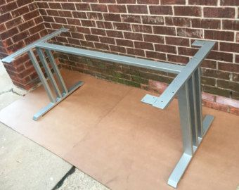 Design Dining Table Base, Three Bars With Middle Square, Industrial Base,  Sturdy Steel