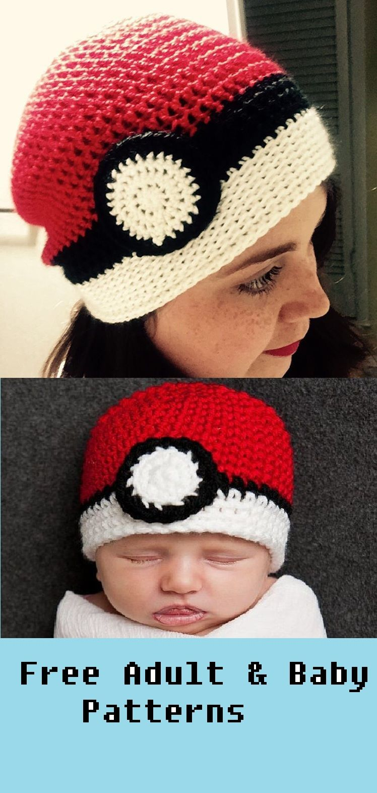 The Ultimate Crochet Pokemon Ball Beanie Hat – Adult | Beanies ...