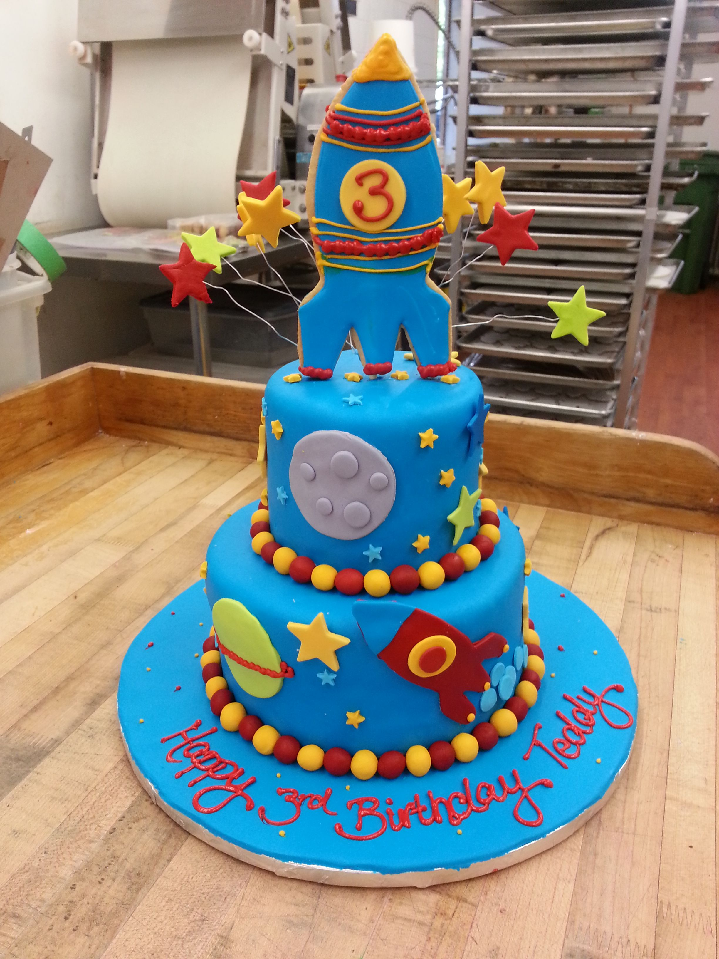 Terrific Houston We Have Lift Off A Yummy Space Rocket Cake With Images Birthday Cards Printable Nowaargucafe Filternl