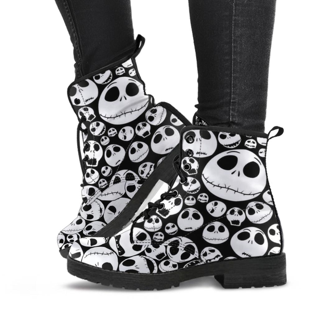 Jack Skellington Shoes – Leather Boots