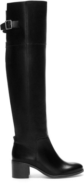 4199c8ea3b Zara Black Leather Boot with Xl Leg
