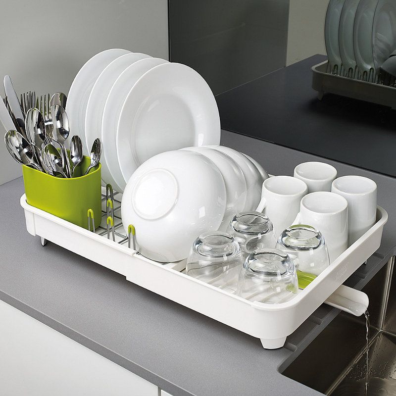 Joseph Joseph Extend Expandable Dish Drainer Rack White Green Lakeland In 2019 Dish Racks Dish Drainers Joseph Kitchen
